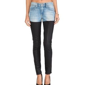 NEW Wildfox Marianne Skinny Color Block Jeans